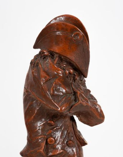 Louis-Gustave CAMBIER (1874-1949) A conspirator Patinated terracotta Signed L-G...