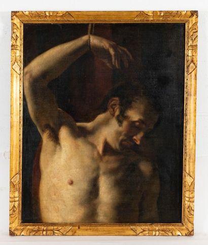 Fran�ois-Joseph NAVEZ (1787-1869) Saint Sebastian Oil on canvas Signed lower left...