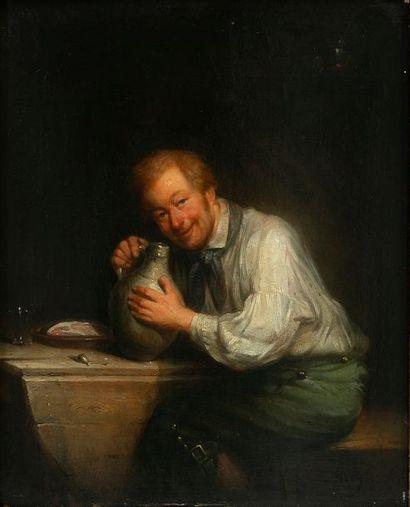 Franciscus MELZER (1808-?) Le bon buveur...
