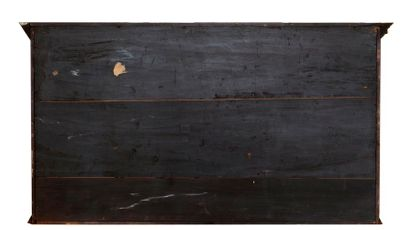 Large cabinet made of veneer, red tortoiseshell veneer and marquetry fillets, opening...