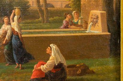 Jean-Joseph-Xavier BIDAULD (Carpentras, 1758-Montmorency, 1846) Paysage italianisant...