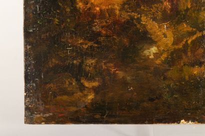 Narcissus Virgil DIAZ DE LA PEÑA (1807-1876) Woman on the edge of the forest Oil...