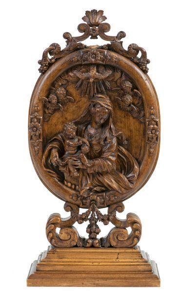 Vierge à l'Enfant entourée d'anges et de...