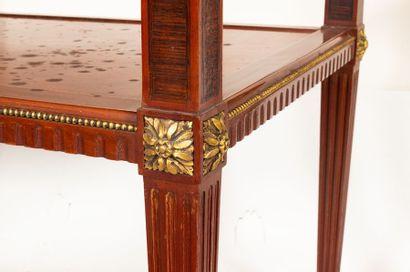 Rectangular tea table in the Louis XVI style in mahogany and veneer Mahogany and...