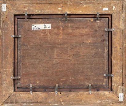 Follower of Paul BRIL (1553/54-1626) La halte des pèlerins Oil on oak panel 34 x...