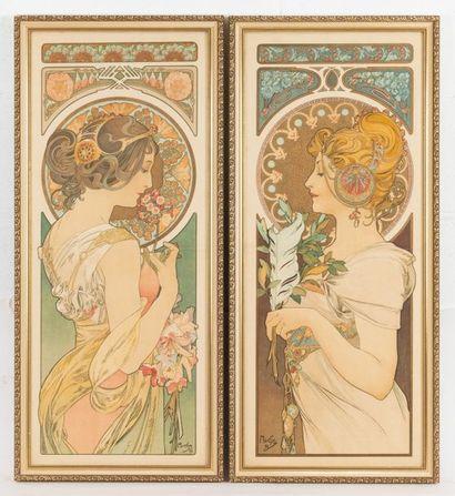 Alphonse MUCHA (1860-1939) La plume et...