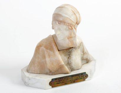 FATTORINI (XIXe-XXe) Buste de jeune fille...