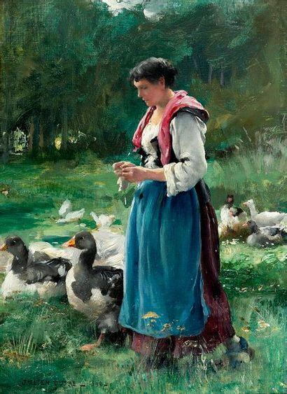 Julien DUPRE (1851-1910) La gardeuse d'oies...