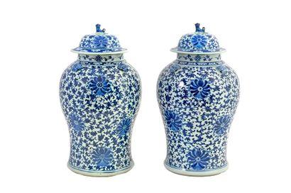 Chine, fin XIXe siècle Paire de potiches...