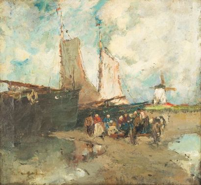 Gustave FLASSCHOEN (1868-1940) Le retour...