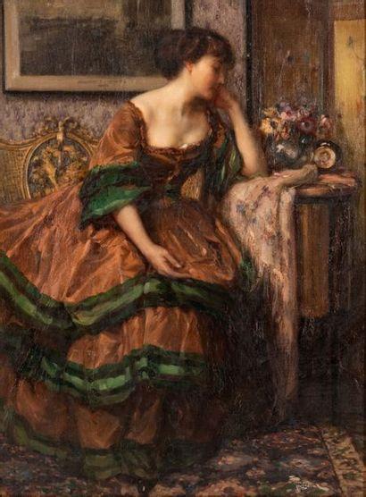 Fernand TOUSSAINT (1873-1955/56) Élégante...