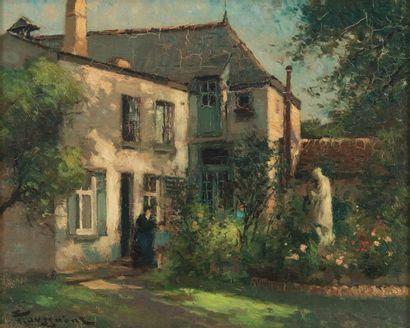 Fernand TOUSSAINT (1873-1955/56) Jardin de...