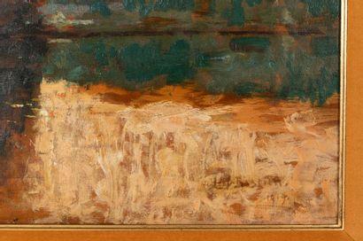 Alfred BASTIEN (1873-1955) Étang du Rouge-Cloître Oil on panel Signed lower right...