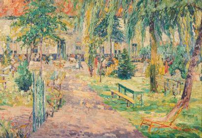 Alfred PIETERCELIE (1879-1955) Cour d'estaminet...