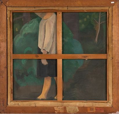 Jean VANDEN EECKHOUDT (1875-1946) Printemps à Gorbio Oil on canvas 86,5 x 91,5 cm...