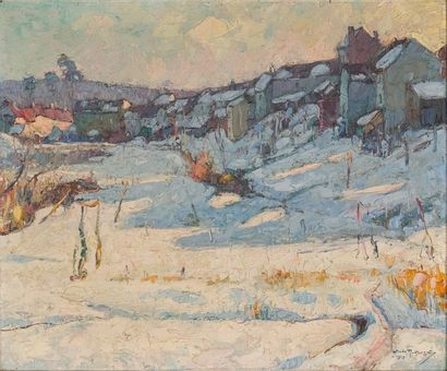 Mécislas de RAKOWSKI (1882-1947) Le village...
