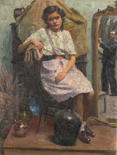 Georges DE SLOOVERE (1873-1970) La petite...