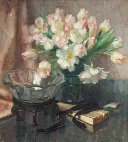 Marcel HESS (1878-1948) Nature morte au vase...