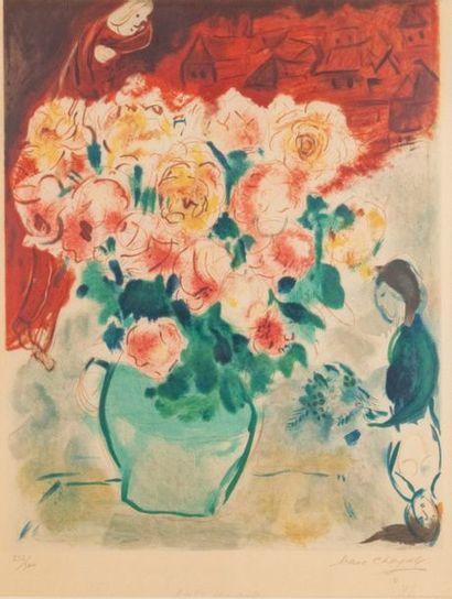 Marc CHAGALL (1887-1985) (d'après) Le bouquet...