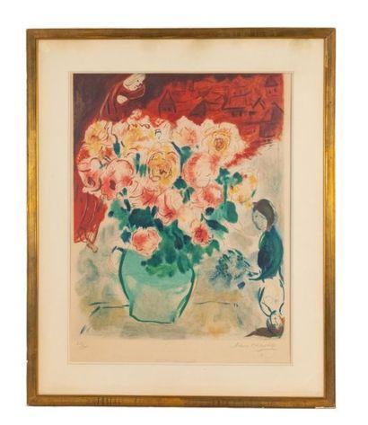 Marc CHAGALL (1887-1985) (after) Le bouquet , 1955 (Sorlier CS8) Colour lithograph...