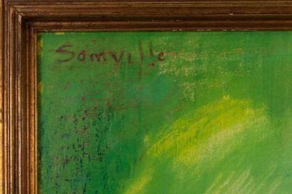 Roger SOMVILLE (1923-2014) Pastel head on paper Signed upper left, circa 1965 Bears...
