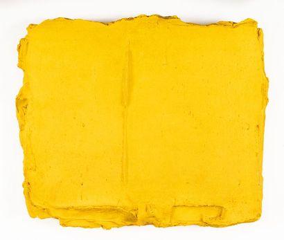 Bram BOGART (1921-2012) Yellow 4 Peinture-matière...
