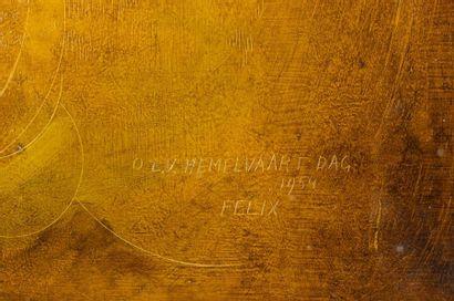 Felix DE BOECK SCHILDER (1898-1995) Portrait of Don Bosco Oil on isorel Titled,...