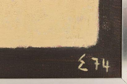 Elie BORGRAVE (1905-1992) Geometric composition Oil on canvas Monogrammed E and...