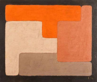 Elie BORGRAVE (1905-1992) Composition géométrique...