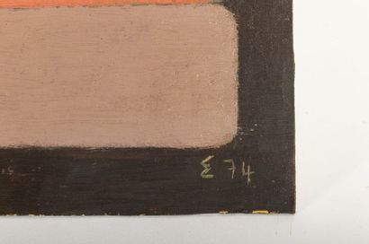Elie BORGRAVE (1905-1992) Geometric composition Oil on cardboard Monogrammed E and...
