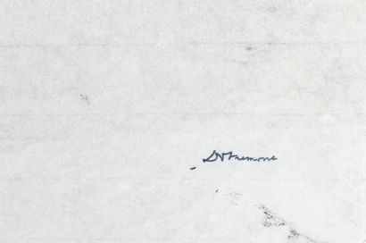 Christian DOTREMONT (1922-1979) Logogram with uncertain text Indian ink on Japanese...