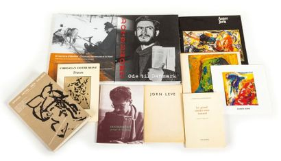 Set including 10 rare books and exhibition catalogues on Asger JORN and Christian...