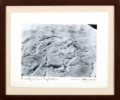 """Christian DOTREMONT (1922-1979) Logoneige """"Nulle part qu'ici le vif ailleurs"""" ,..."""