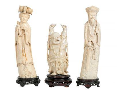 Chine, début XXe siècle Empereur et Impératrice...