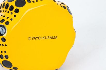 After Yayoi KUSAMA Yellow pumpkin Sculpture in painted resin Carries the artist's...