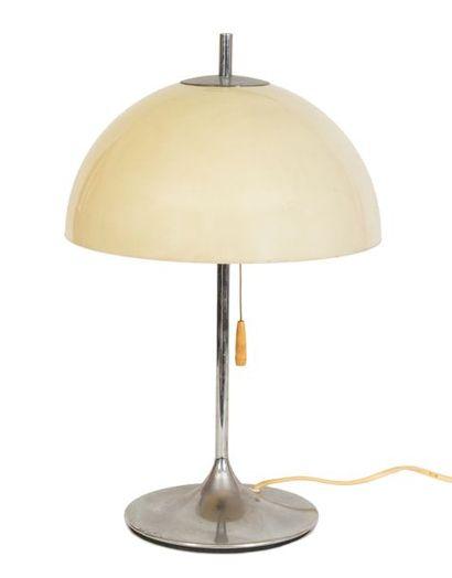 Lampe Champignon Unilux (?) à deux lumières,...