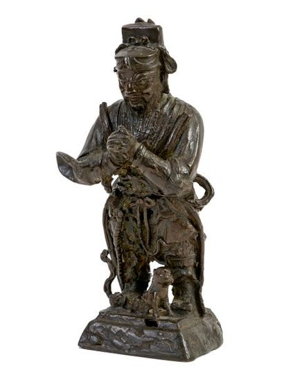Chine, époque Ming(1368-1644) Gardien de...