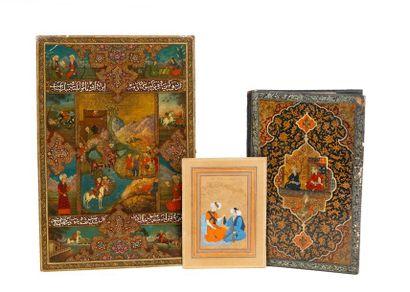 Iran, vers 1900 Ensemble comprenant deux...