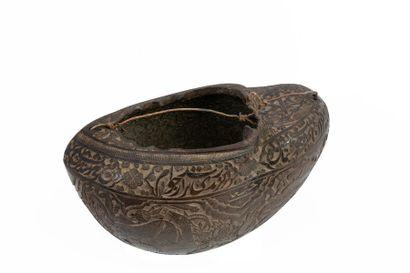 Iran, vers 1850 Bol de dervish « kashkkul...