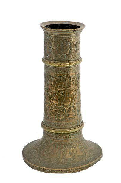 Iran, vers 1900 Porte torche « Mashal » en...