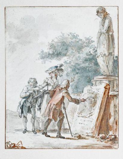 Attribué à Claude Jean-Baptiste HOIN (1750-1817)...