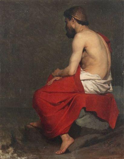 Charles LEGRAIN (1837-1891) Le penseur en...
