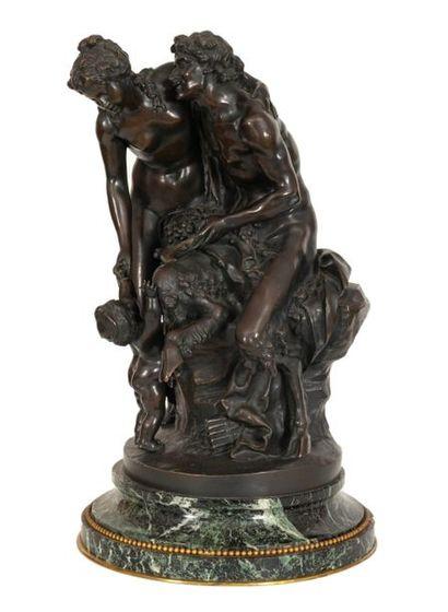D'après CLODION (1738-1814) Satyre, bacchante...