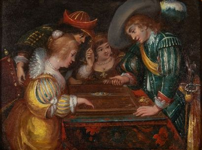 D'après Jan COSSIERS (1600-1671) La partie...