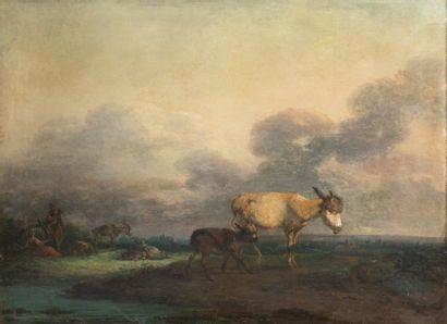 École française, XIXe siècle Ânesse et son...