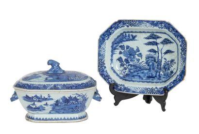 Chine, époque Qianlong (1723-1795) Terrine...