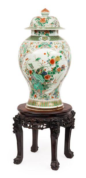 Chine, XIXe siècle Importante potiche couverte...