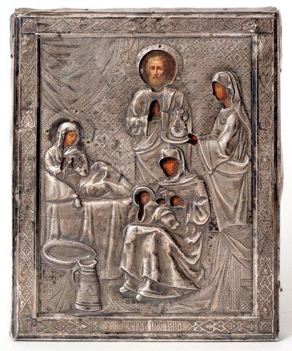 Le baptême de la Vierge Icône peinte sur...