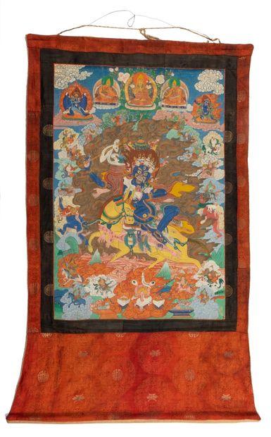 Tibet, début XXe siècle Tangka représentant...