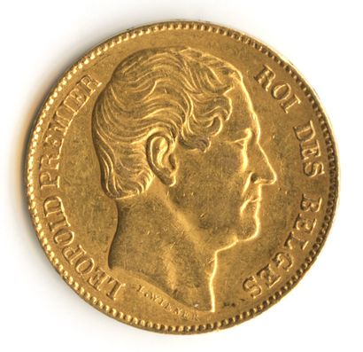 Belgique - Pièce de 20 francs or Léopold...